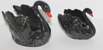 "2 VTG Gorham Black Swans - Sugar Bowl - Decor - 5"", 4.25"" - EUC"