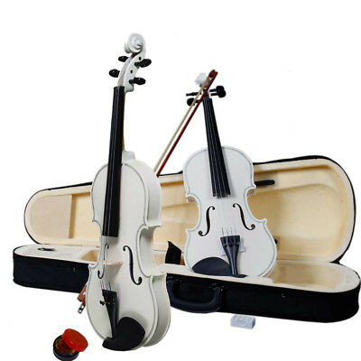 4/4 Full Size Students Practice Acoustic Violin Set Fiddle with Case Bow Rosin