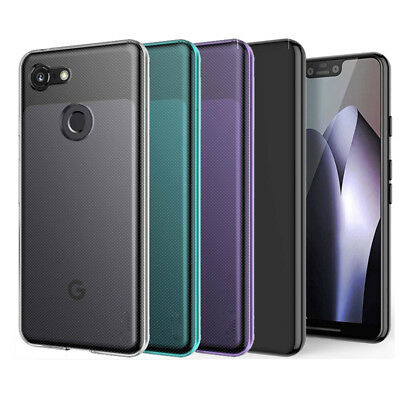 Glossy Slim Soft Gel TPU Silicone Case Cover Skin For Google Pixel 2 Pixel 3 XL