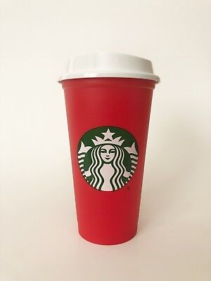 New Starbucks Red Reusable 16 Oz Holiday Cup 2018