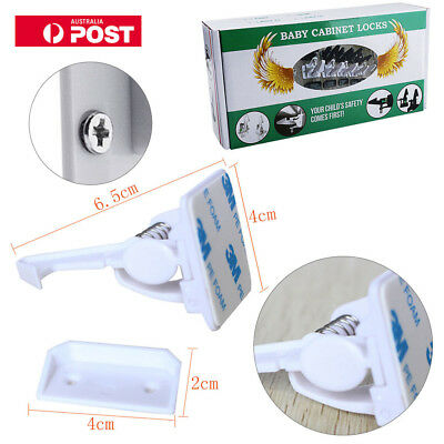 10X Invisible Safety Baby Magnetic Cupboard Door Lock Straps Latches Adjustable