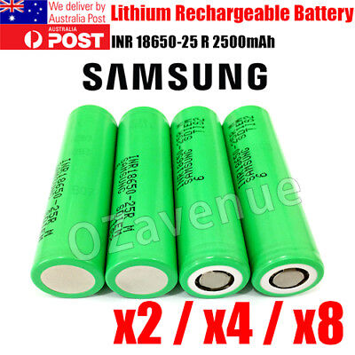 Samsung INR18650-25R Lithium Ion Cells 2500mah 3.7v Battery Rechargeable