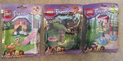 Bulk Lot Of Girls Friends Poly Bag Series 3 Animals 41023, 41024, 41025