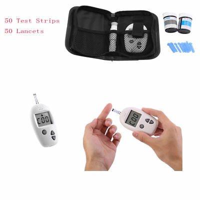 Blood Glucose Monitor System Test Sugar Diabetic Health Aid Glucometer Strip Kit