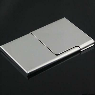 Creative Business Card Case Stainless Steel Cover Metal Card Holder Men Women