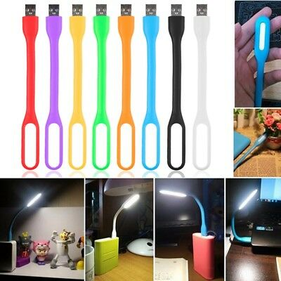 1PC Mini lampe de lecture flexible USB LED pour ordinateur portable brillant