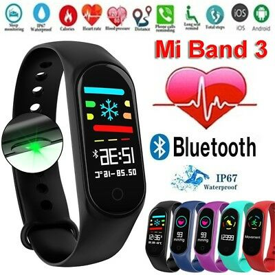Smart Watch Fitness Bracelet IP67 Blood Pressure Heart Rate Monitor Waterproof