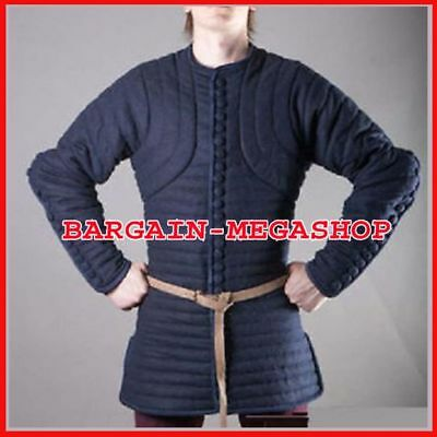 NewGame of thrown Thick Blue Color Gambeson Medieval Padded Full Sleeves Armor