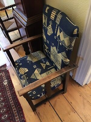 Arts and Crafts Oak Chair,Upholstered