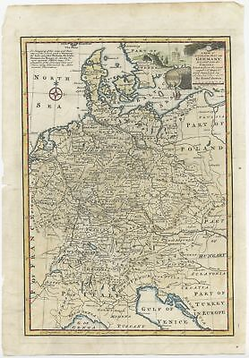 A New & Accurate Map of Germany - Bowen (1747)