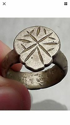 1100-1200 AD Authentic Ancient Byzantine Medieval Silver Ring Artefact
