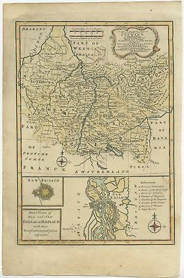 A New & Accurate Map of the South West part of Germany - Bowen (1747)