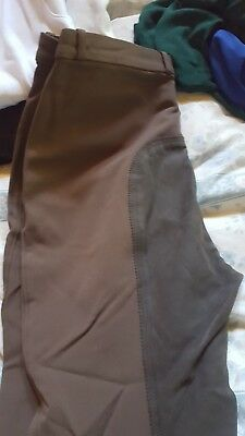 k Ritchie brown breeches size 16, sticky bums in as new condition, quality.