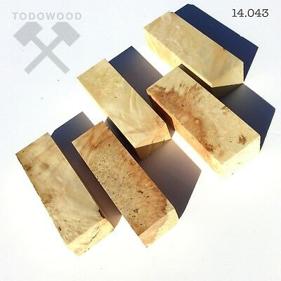 SET 5 WOOD Blanks, Maple Burl, Woodworking, Crafting, Wood Craft Material, DIY