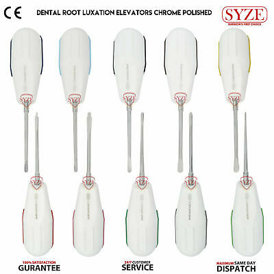 Dental Tooth Extraction Root Elevators Luxating Elevator Set Plastic Handle SYZE