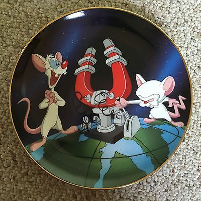 Animaniacs Pinky & The Brain Ltd Ed Collector Plate Warner Bros Gallery NEW MINT