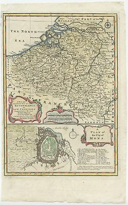 A New and Accurate Map of the Netherlands or Low Countries - Bowen (1747)