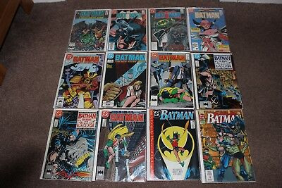 Batman comic bundle (12) Complete with backing boards and bags