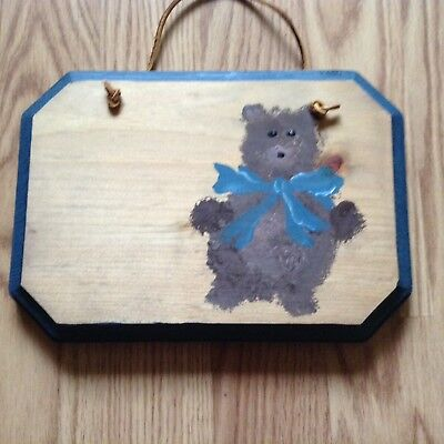 Personalized Handcrafted Teddy bear Theme Room SIGN Decor Wood Plaque