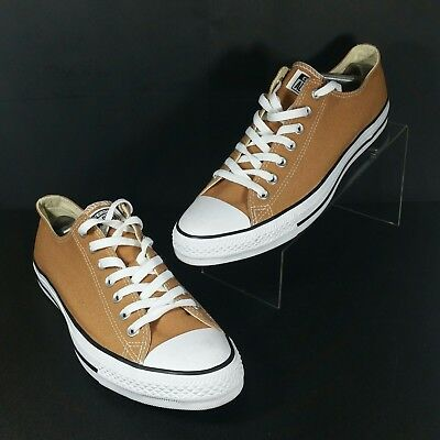 8913552f35f7 Converse All Star Mens Low Top Casual Shoe Distressed Tan Brown Size 10.5