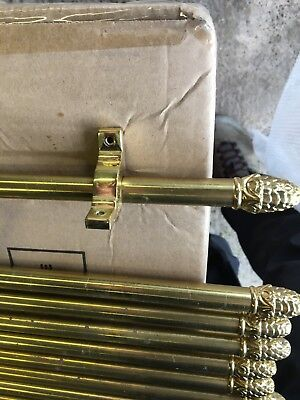 Brass stair rods x 12 with fittings and screws