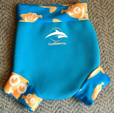 💙Cute Blue Baby Swim Happy Nappy Small 0-3 Months 💙