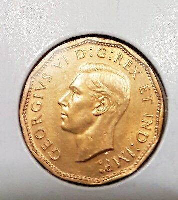1943 5C Tombac Canada Canadian 5 Cents - George VI - MS 66 High Grade Coin