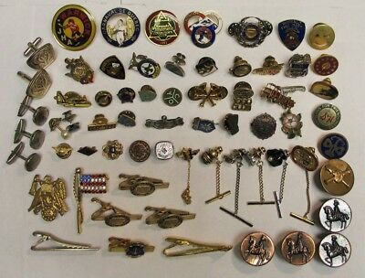 Large Mixed Lot Of Estate Antique  Vintage Junk Drawer  Pins military etc