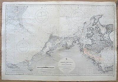 Germany Coast Of Prusia Rostock To Arkona Light Vintage Admiralty Chart Map