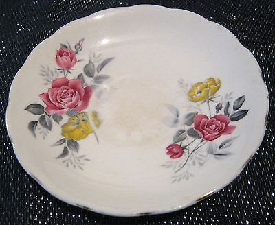 Very pretty Royal Vale saucer Bone China E967 pattern approx 5½ ins wide