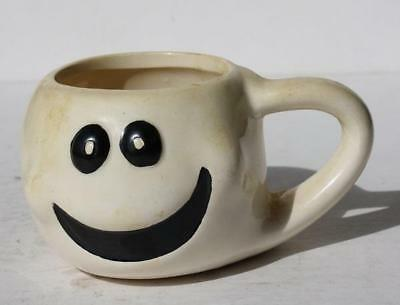 Ghost Face Halloween Mug Cup w-Handle Ceramic Hand Painted Great Display Decor
