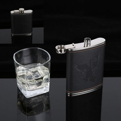 Stainless Steel Hip Liquor Whiskey Alcohol Flask Cap 5-9oz Pocket Wine Bottle