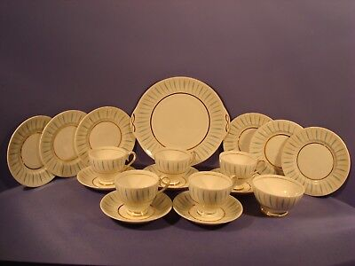 Ridgway Fine English Bone China, Caprice Pattern, Tea Set 18 Pieces
