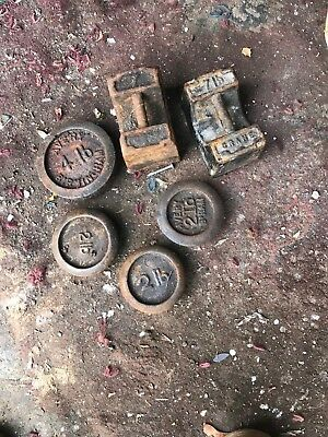 vintage weights Avery vintage weights need cleaning and painting