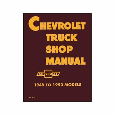 Neues Reparaturhandbuch Chevrolet Pick Up Truck 1948-53 PickUp Shop Manual Chevy