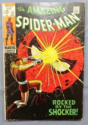 The Amazing Spider-Man # 72 Marvel Comics 1969 Silver Age Shocker