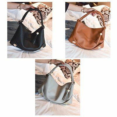 Simple Style Solid Color Woman Lady PU Leather Shoulder Bags Tote Handbags Z$Z