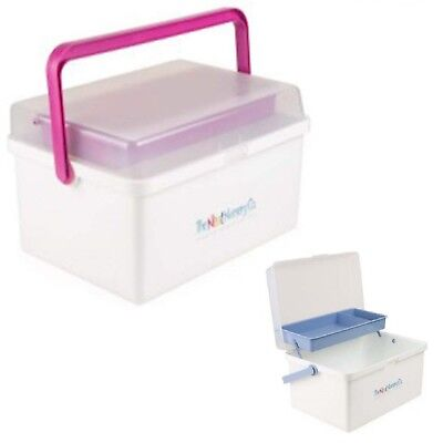 The Neat Nursery Co. Baby Box Organiser White / Blue Or Pink