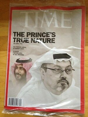 TIME magazine October 29, 2018 The Prince's True Nature. Unopened In wrapper
