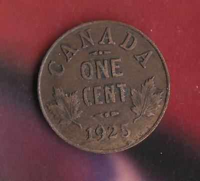 1925 Canada small Cent w/ George V- key date, inv#1277
