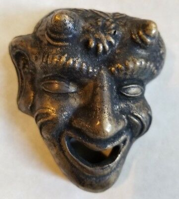 Rare Type Antique Vintage Solid 372 Grams Brass Devil Paper Weight