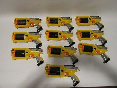 Lot of 10 NERF N-Strike MAVERICK dart gun Lot w/ New DARTS - PARTY LOT