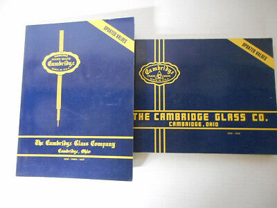 Cambridge Glass Company Collector's Books 1930-34 and 1949-53
