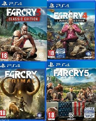 Far Cry 3 4 5 Far Cry Primal PS4 MINT - Same Day Dispatch via Super Fast Deliver