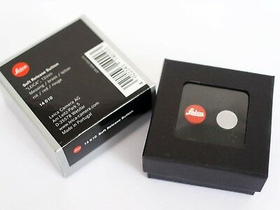 """LEICA SOFT RELEASE BUTTON 14010 """"LEICA"""" 12mm BRASS RED BOXED FOR ALL M CAMERAS"""