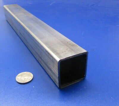 """304 Stainless Steel Square Tube  1 1/2"""" SQ x .083"""" Wall x 12 Inch Length"""