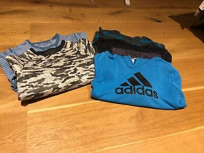 Bundle Of Boys Long Sleeved Tops Adidas Johnnie b,  Next Age 9-10