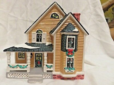 Woodbury House Snow Village Dept 56 RETIRED 1996 w/Tag/Light Retired FREE SHIPPG