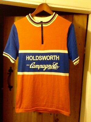 Holdsworth Heritage Short Sleeve 100% Merino Wool Cycling Jersey Size L  Large 58c258fb0