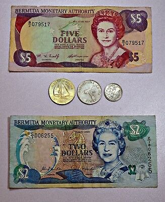 Bermuda Currency/Coins $5, $2, $1, $0.25, $0.10  Inv.# G5